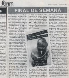 """demo """"Bric a Brac Between Aspirins"""" @ Gazeta do Povo, Curitiba, 1996 at"""