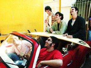2000, front: Genu & Gordinho; back Gustavo, Mito & Pedrão