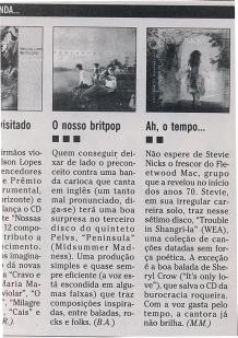 Pelvs @ O Globo, 2001