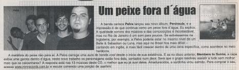Pelvs @ International Magazine, 2001